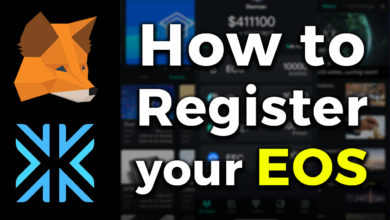 register EOS tutorial