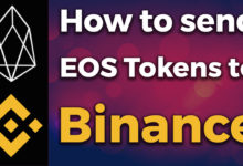 how to send eos to binance